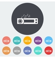 Car radio icon vector image