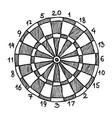 cartoon image of dart board icon dart symbol vector image vector image