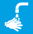 cleaning hands icon white vector image vector image