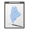 clipboard maine map vector image vector image