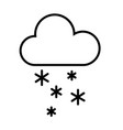 cloud and snow icon vector image