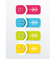Colorful banners with white circles vector image