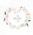 colorful flat design style foral frame an vector image vector image