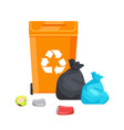 container with recycle sign vector image vector image