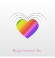 Creative Valentines Day Heart Greeting Card vector image vector image