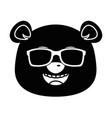 cute panda with sunglasses emoji kawaii vector image