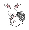 cute rabbit isolated icon design vector image
