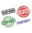 damaged textured for rent payments stamp seals vector image