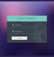 dark login ui template design in flat style vector image vector image