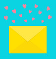 email icon yellow paper envelope love letter vector image vector image