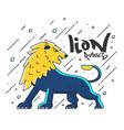 flat designed lion vector image