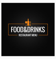 food and drink menu background vector image vector image
