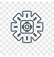 gears concept linear icon isolated on transparent vector image
