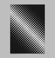geometric halftone diagonal square pattern vector image vector image