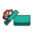 gift box ribbon vector image