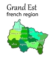 Grand Est french region map vector image
