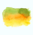 green and yellow watercolor gradient banner vector image vector image