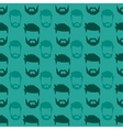 Hairstyle beard seamless pattern vector image