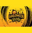 halloween horror party invitation with pumpkin vector image vector image