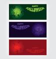 halloween party roughen octagon silhouette banner vector image