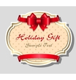 Holiday gift card template vector image vector image