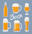 image of mugs of beer glass drinks with a lot of vector image vector image