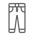jeans line icon clothes and fashion trousers vector image vector image