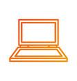 laptop device technology equipment gadget vector image