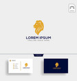 llion business financial logo template with vector image