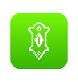 lock door icon green vector image