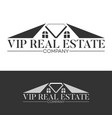 luxury real estate logo vector image vector image