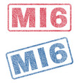 mi6 textile stamps vector image vector image