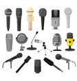 microphone microphones for audio podcast vector image vector image