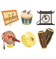 music drums vector image vector image