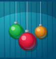 new year s ball merry christmas vector image