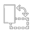 object rotate line icon vector image vector image