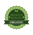 Organic Premium Quality label vector image