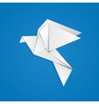 Origami pigeon vector image