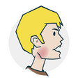 problems with throat and sinus vector image vector image