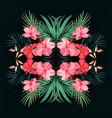royal palm hand drawn tropical jungle realistic vector image vector image