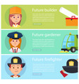 school children dreaming about future professions vector image