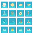 sea icon blue app vector image vector image