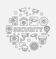 security round concept linear vector image vector image