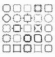 set black different styles line frame works vector image vector image