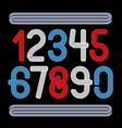 set of funky rounded numbers made with parallel vector image