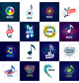 sign music of musical notes vector image vector image