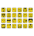 smiles set emoticons or emoji vector image
