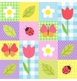 spring pattern vector image vector image
