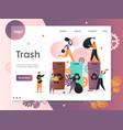 trash website landing page design template vector image vector image