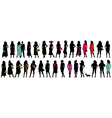 Women fashion silhouette vector image